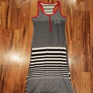 DNA Couture long sleeveless maxi dress size large